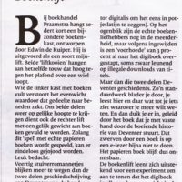 Artikel in de Stentor over onthulling Move on Time - 2013