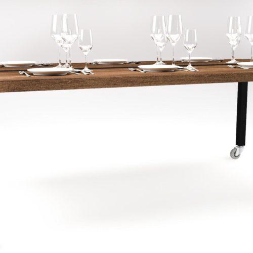 De Able table als royale diner tafel.