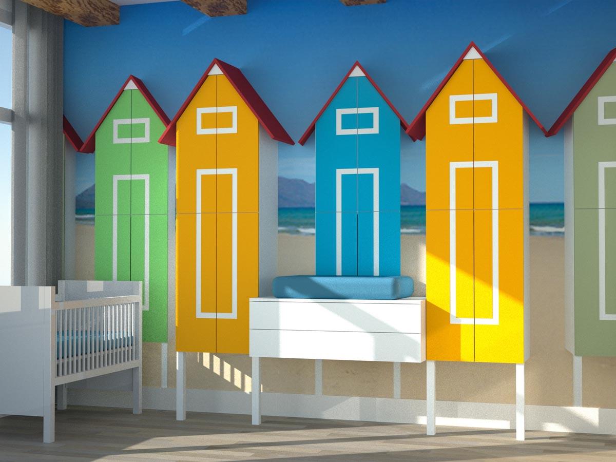 Kinderkamer 39 beach life 39 stijlapart - Gordijnen voor de kinderkamer ...