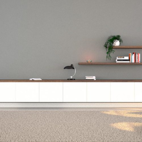De Witte Serie - Chique dressoir. Minimalistisch, multifunctioneel en mysterieus met z'n verborgen bureau en lades