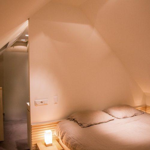 Slaapkamer met badkamer opmaat
